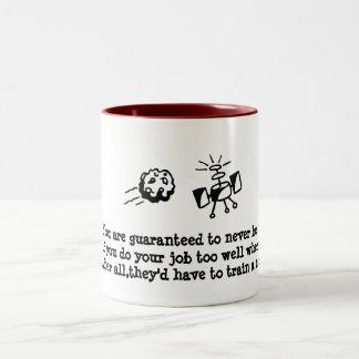 team payer,not team player Two-Tone coffee mug