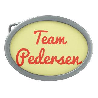 Team Pedersen Oval Belt Buckle
