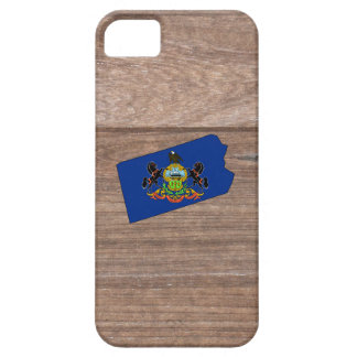 Team Pennsylvania Flag Map on Wood iPhone 5 Covers