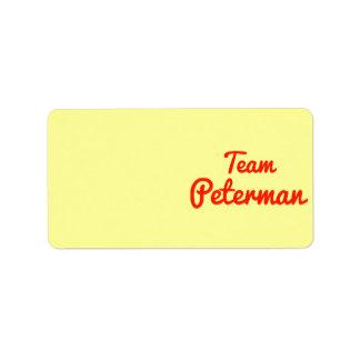 Team Peterman Labels