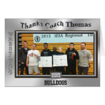 TEAM PHOTO and Coach NAME Wrestling Card Greeting Card