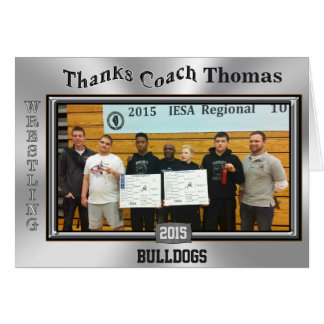 TEAM PHOTO and Coach NAME Wrestling Card