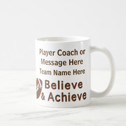 Team Photo and Your Text Football Gift Ideas Coffee Mug