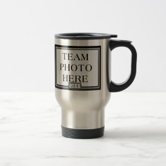 Team Photo Mug, Coach's Name Wrestling Coach Gifts 15 Oz Stainless Steel Travel Mug