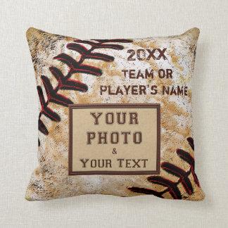 TEAM PHOTO, NAME, YEAR Custom Baseball Team Gifts Pillow