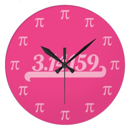 Team Pi Pink Wallclocks