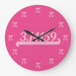 Team Pi Pink Wallclocks
