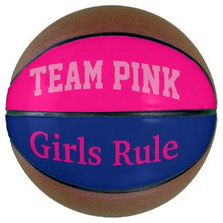 Team pink basketball