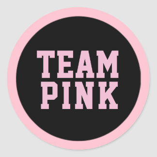 TEAM PINK Gender Reveal Baby Shower Game Labels