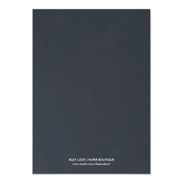 Team Pink or Team Blue Chalkboard Gender Reveal Card (back side)