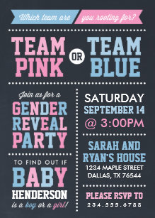 Gender Reveal Invitations Zazzle