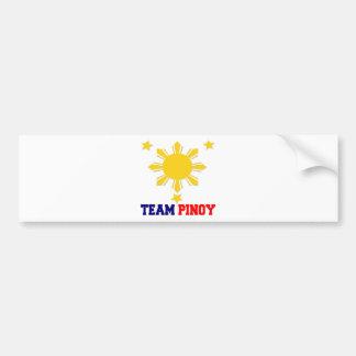 Team Pinoy 3 stars and a Sun Bumper Sticker