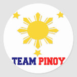 Team Pinoy 3 stars and a Sun Stickers