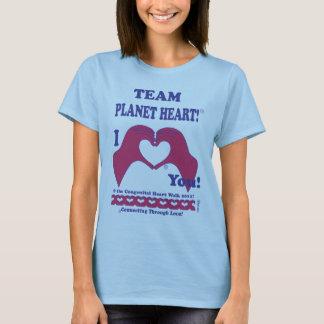 Team Planet Heart for Congenital Heart Walk T-Shirt