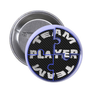 Team Player Puzzles 2 Inch Round Button