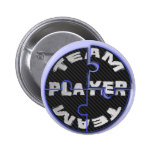 Team Player Puzzles Pinback Buttons