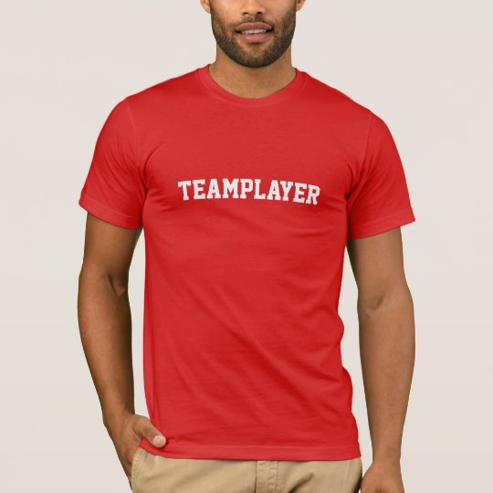 """""""Team player"""" T-shirt red/knows"""
