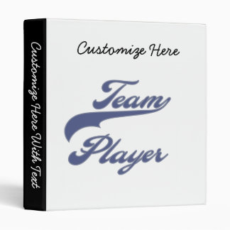 Team Player Tshirts and Gifts 3 Ring Binder