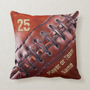 Team, Player's Name And Number Football Pillows at Zazzle