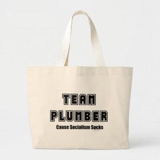 Team Plumber Cause Socialism Sucks Tote Bag