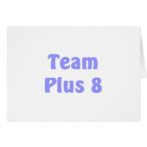 Team Plus 8 Stationery Note Card