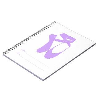 Team Pointe Ballet Lilac Notebook