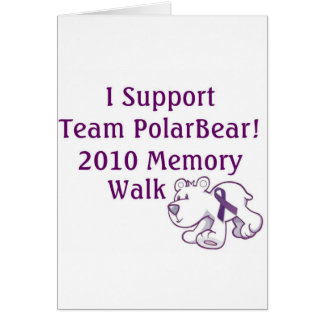 Team PolarBear Support! Greeting Card