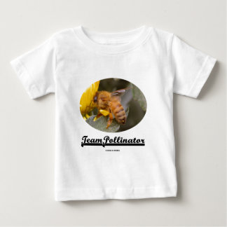 Team Pollinator (Bee On Yellow Flower) Baby T-Shirt