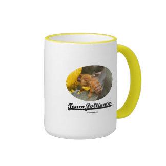 Team Pollinator (Bee On Yellow Flower) Coffee Mugs