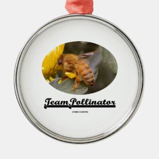 Team Pollinator (Bee On Yellow Flower) Ornaments