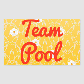 Team Pool Rectangular Sticker