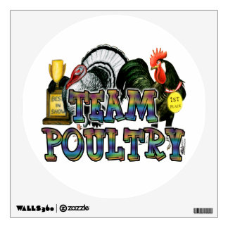 Team Poultry Wall Decal