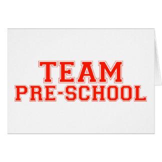 Team Pre-School Greeting Card