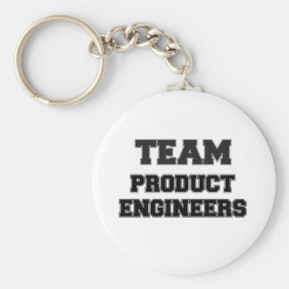 Team Product Engineers Basic Round Button Keychain