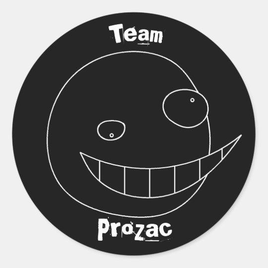 Team Prozac Black Sticker
