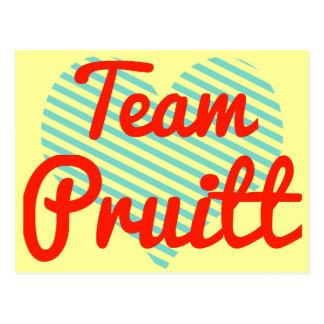Team Pruitt Postcard