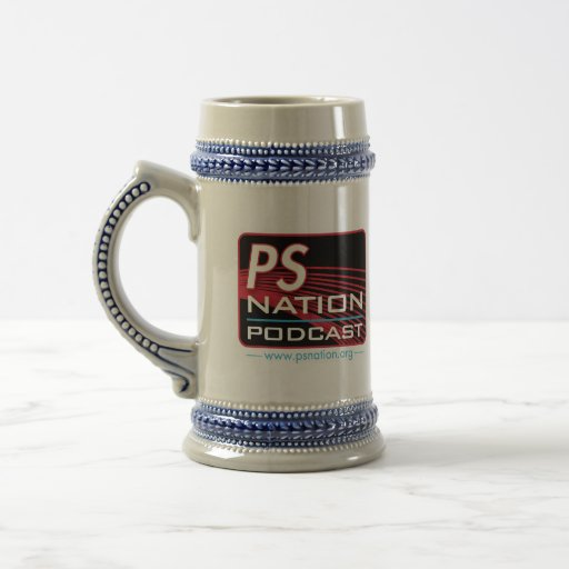 """Team PS Nation"" Beer Stein Coffee Mug"