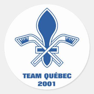 Team Quebec 2001 (Sticker) Classic Round Sticker