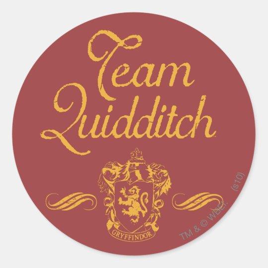 Team Quidditch Classic Round Sticker