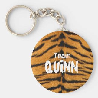 Team Quinn Basic Round Button Keychain