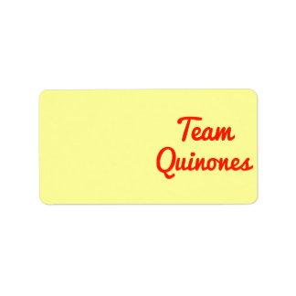 Team Quinones Address Label