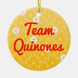 Team Quinones Double-Sided Ceramic Round Christmas Ornament