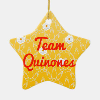 Team Quinones Double-Sided Star Ceramic Christmas Ornament
