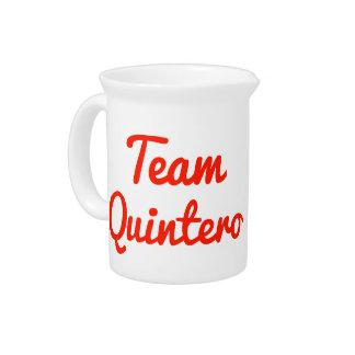 Team Quintero Beverage Pitchers