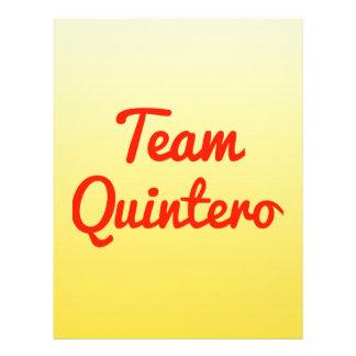 Team Quintero Flyer Design