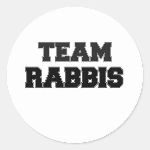 Team Rabbis Round Sticker