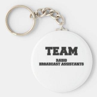 Team Radio Broadcast Assistants Key Chains