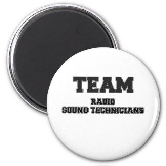 Team Radio Sound Technicians 2 Inch Round Magnet