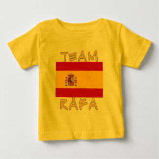 Team Rafa with Spanish Flag Baby T-Shirt