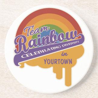 Team Rainbow custom coaster